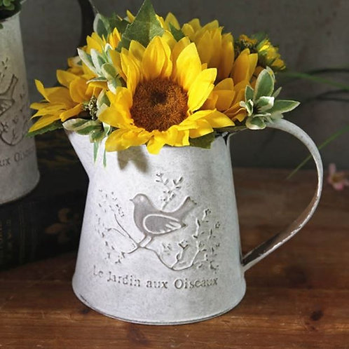 Watering Cans Flowers Bucket Metal Vases Vintage Style Home Gardening Ornaments
