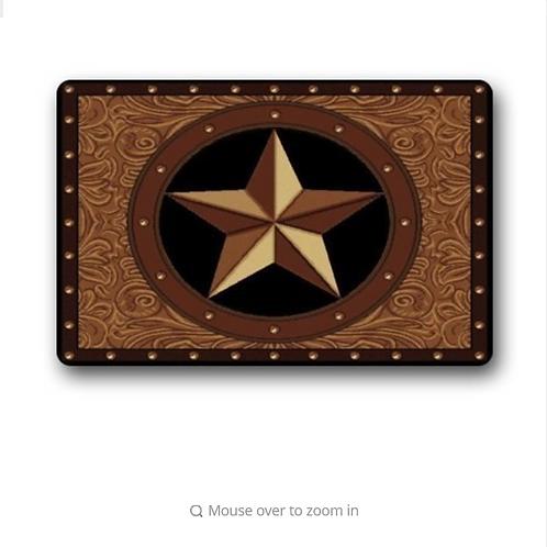 Western Texas Star Doormat Welcome Door Mat For Home Decoration Bathroom Floor M