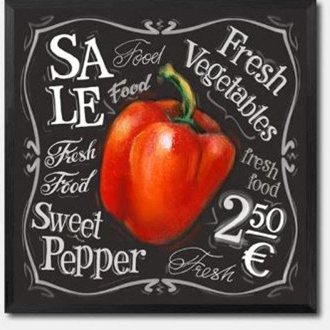 Fresh Vegetables Shop Wall Art Canvas Painting Sweet Pepper Print Poster Restaur