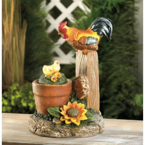 Solar Rotating Rooster Garden Decor Item# 10017856