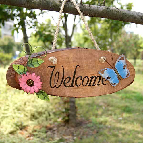 Home Decoration Welcome Wood Sign Signboard Listed Home Decoration Brand Wall