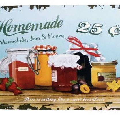 HOMEMADE Marmalade Jam and Honey Metal Tin Plaque