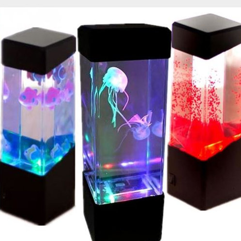 Jellyfish Tank Mood Light Aquarium Style Sensory Autism Lava Lamp LED Desk