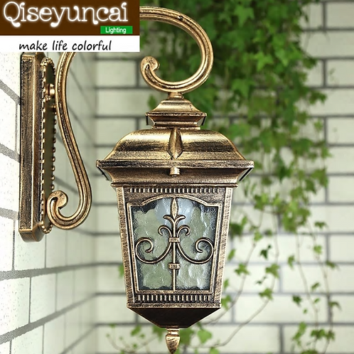 Waterproof Aluminium Die-casting Porch Light Outdoor Wall Lamp Never Rust Cottag