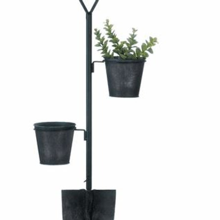 Flower Pot Shovel Wall Decor