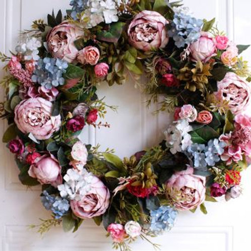 Hawaii Party Wall Door Hanging Artificial Flowers Wreath Wedding Decoration Flor