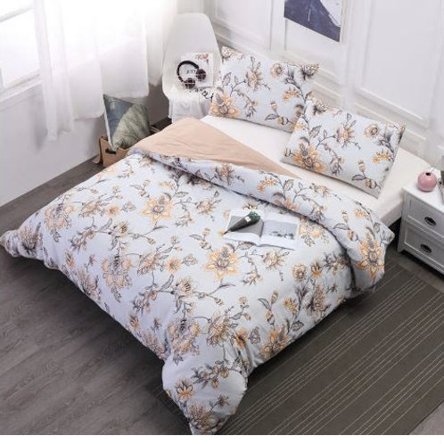 edclothes Bed Duvet Cover Pillowcases Bedding Set Floral Printing Skin-friendly