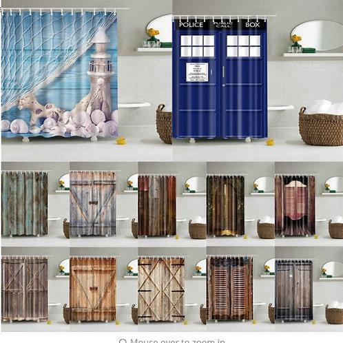 Polyester Fabric Bath Screen Shower Curtains Bathroom Curtain Waterproof Curtain