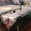 Thumbnail: RAYUAN Embroidered Peony Satin Fabric Cutwork Table Runner Dresser Scarf Home