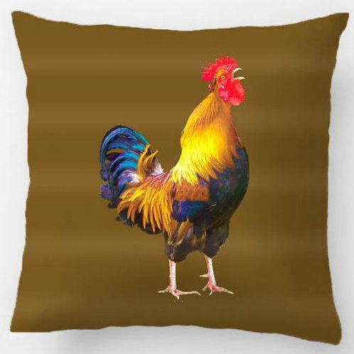 Country Rooster Farm Animal Brown Pillow Wedding Decorative Cushion Cover Pillow
