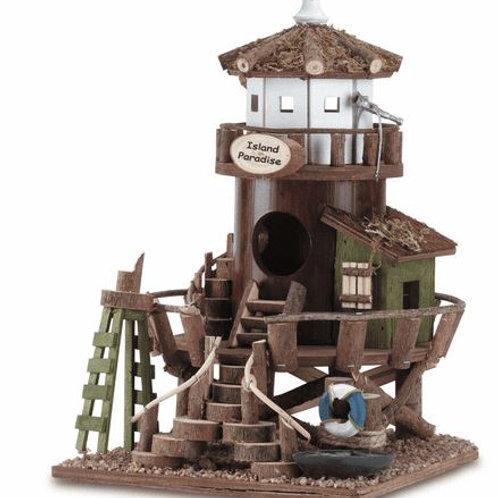 Island Paradise Wood Bird House
