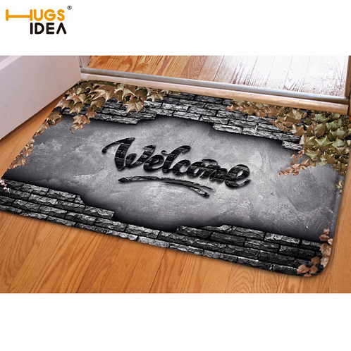 HUGSIDEA Home Decorative Front Extrance Doormat Welcome Hello Outdoor Indoor