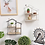 Thumbnail: Wooden House Shape 3 Partitions Storage Rack Hanging Living Room Organization