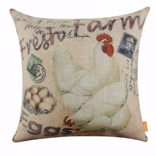 LINKWELL 45x45cm Vintage Fresh Farm Eggs Hen Decorative Throw Pillows Case Cushi