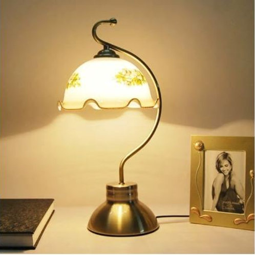 Fashion vintage table lamp bedroom bedside lamp fashion glass rustic touch table