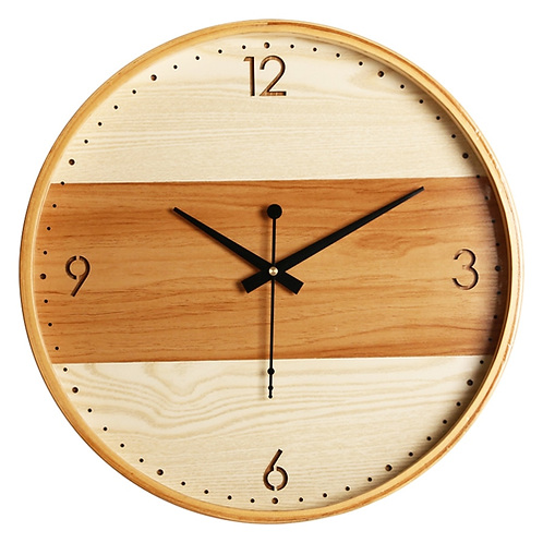16 Inch Large Modern Wall Clock Wooden Kitchens Gift Ideas Wall Watches Bathroom