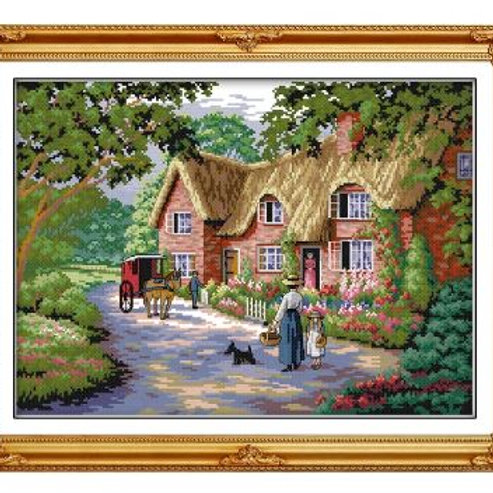 Life in Countryside Counted Cross Stitch 11 14CT Cross Stitch Sets landscape Cro
