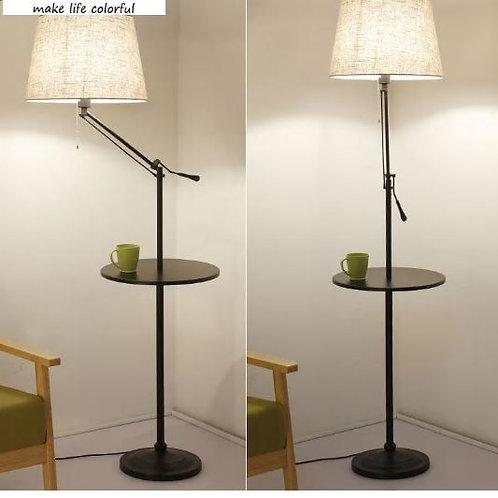 Qiseyuncai 2018American living room wrought iron floor lamp light simple modern
