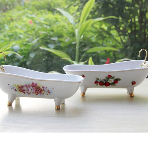 Soap Box Ceramic Simple Modern Garden Bath Tub Model Real Estate Model Toilet Gr