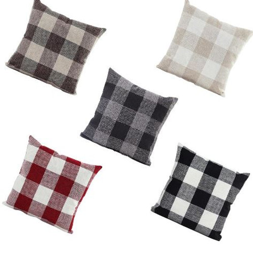 intage Farm Linen Checkers Plaid Cotton Linen Decoration Throw Pillowcase Cushio