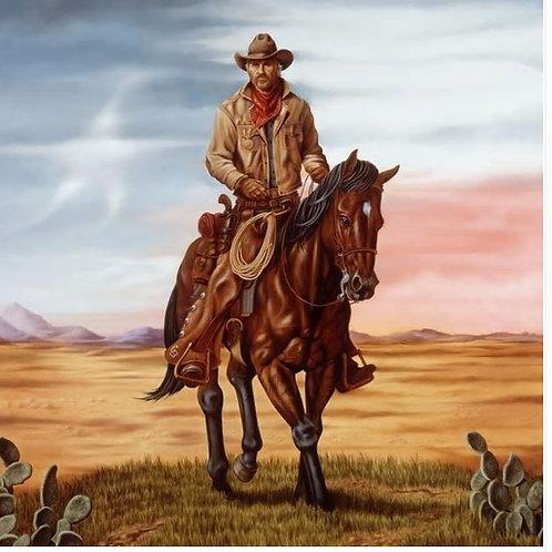 TOP original ART-American Western art west cowboy oil painting print work-good q