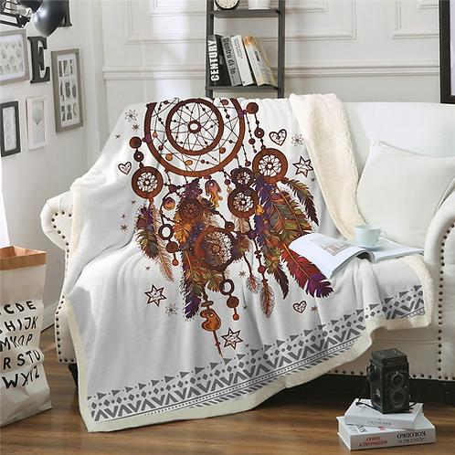 BeddingOutlet Velvet Plush Throw Blanket Hipster Watercolor Sherpa Blanket