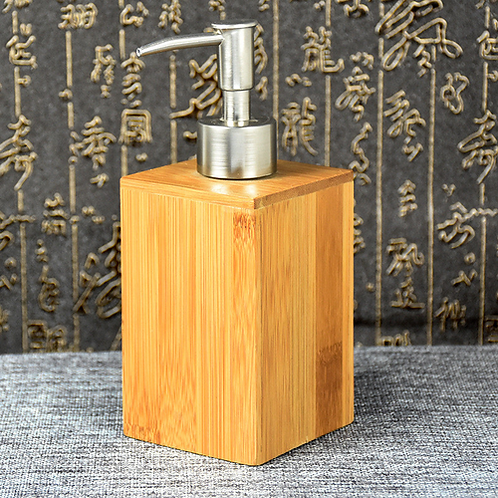 Natural South Bamboo Bathroom Liquid Soap Shampoo Bottle Cosmetic Container