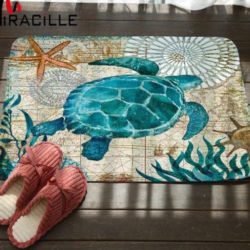 Miracille Marine Style Door Mat Floor Carpet for Living Room Sea Turtle Pattern