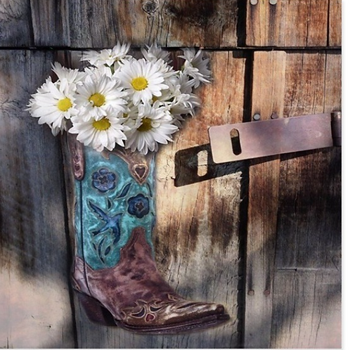 Rustic Western Country Cowboy Boots Decorative Fabric Shower Curtain 8 Sizes Sho
