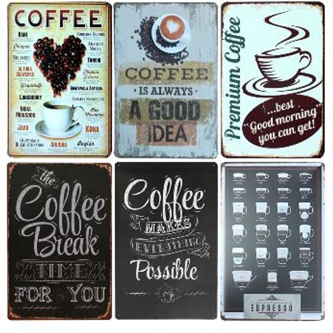 New Coffee Is Always Poster Vintage Metal Signs Home Decor Vintage Tin Signs Pub