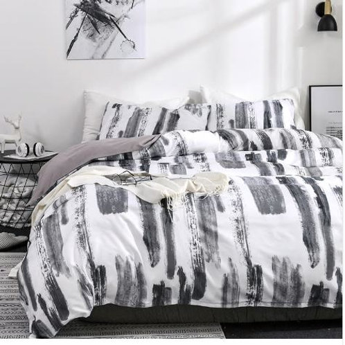 Simple Leisure Bedding Linens Set Modern Quilt Comforter Cover Pillowcases US Tw