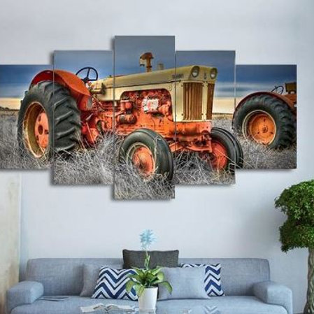 5 piece canvas On Farm Tractor Canvas picture painting decor print poster wall a