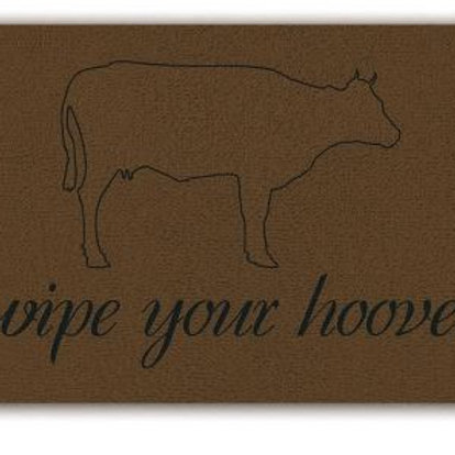 Wipe your hooves doormat cow lovers welcome mat Ranch doormat Farm doormat Weste