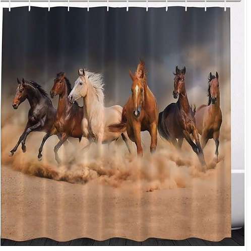High Quality Arts Shower Curtains Running Horses Southwestern Bathroom Decorativ