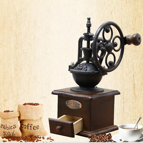 Manual Coffee Grinder Hand Crank Coffee Grinder Antique Cast Iron Hand Crank Cof
