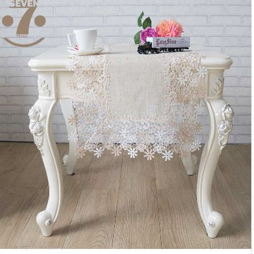 1pcs 40x90cm Vintage StyleHome Decorative Retro Style Linen Table Runner