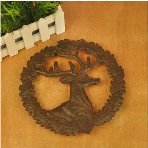 Vintage Cast Iron Trivet Round Metal Trivet Lot Deer Animal Home Restaurant Kitc