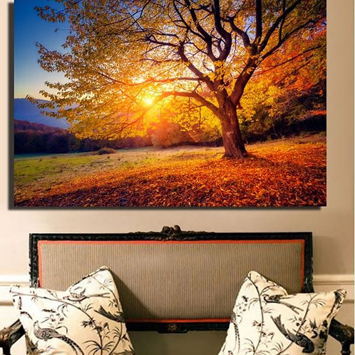HD Print Large Size Sunset Beautiful Scenery Canvas Painting Nature
