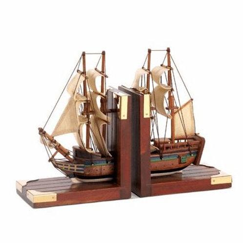 Sailing Schooner Bookends