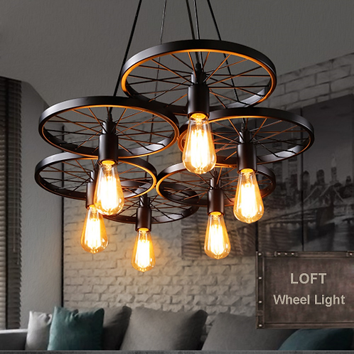 Russia Pendant Light Vintage Industrial Lamp Nordic Metal Wheel Lights Loft