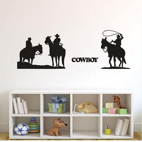 Western COWBOY HORSE Wall Stickers Decal DIY Art Home Decoration Wall Mural Livi