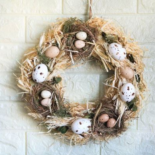 Handmade Spring Summer Wreath Door Home Decoration Accessories Home Wreath Easte