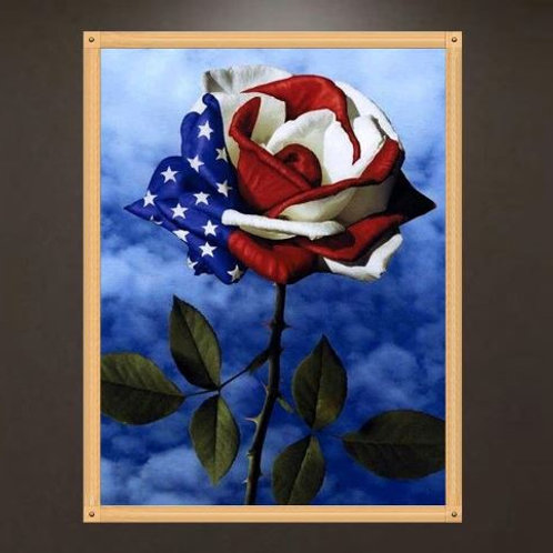 5D Rose Diamond Painting Embroidery DIY Craft Cross Stitch Kit Home Decor Gift N