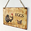 Thumbnail: Vintage Cock Farm Fresh Eggs Letter Wooden Plaque Wooden Signs Wall Decor