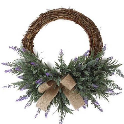 Artificial Flower Ornament Round Wreaths Home Door Decoration Garland Wreathe