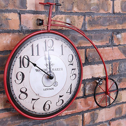 Bicycle Wheel Wall Clock Restoring Ancient Ways Is Creative Wrought Iron Wall Cl