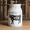 Thumbnail: shabby white vintage metal milk can flower vase