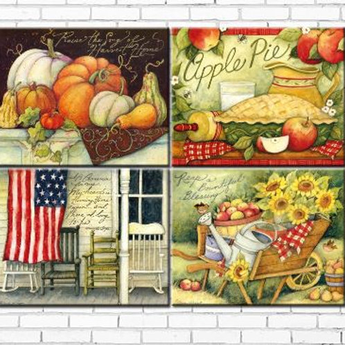 cartoon american country farm landscape canvas printings oil painting printed on