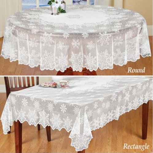 1pc Table Cloth Cover White Vintage Lace Tablecloth Home Party Xmas Decor NEW