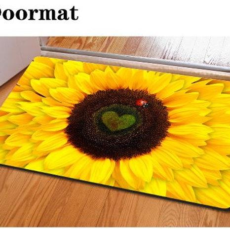 Fashion Bedroom Floor Mats Slip-resistant Entrance Doormate Pad Sunflower Cute C